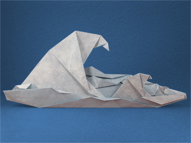 Origami Waves by Peter Engel folded by Gilad Aharoni