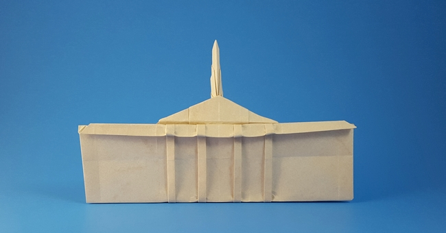 Origami The White House by Jordan Langerak (Langko) folded by Gilad Aharoni