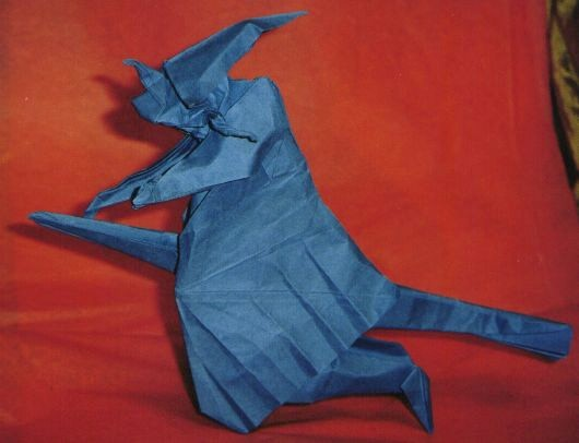 Origami Witch On Broomstick By Jose Anibal Voyer Folded Gilad Aharoni
