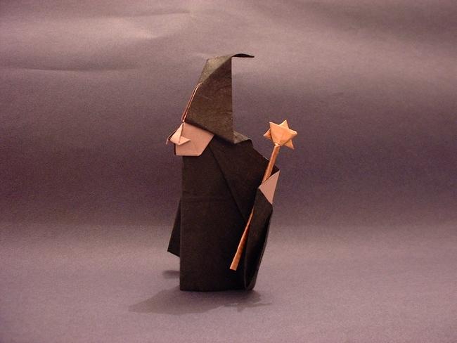 Origami Witch By Akira Yoshizawa Folded Gilad Aharoni