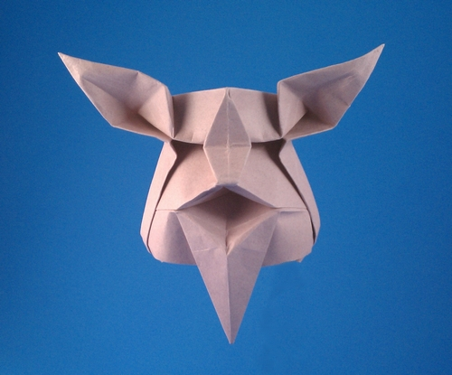 Origami Wizard face by Yehuda Peled folded by Gilad Aharoni
