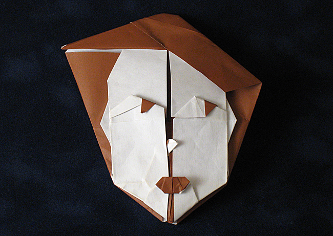 Excellent Origami Woman Mask By Amparo Martinez Gil Folded From A Square Of Paper Gilad