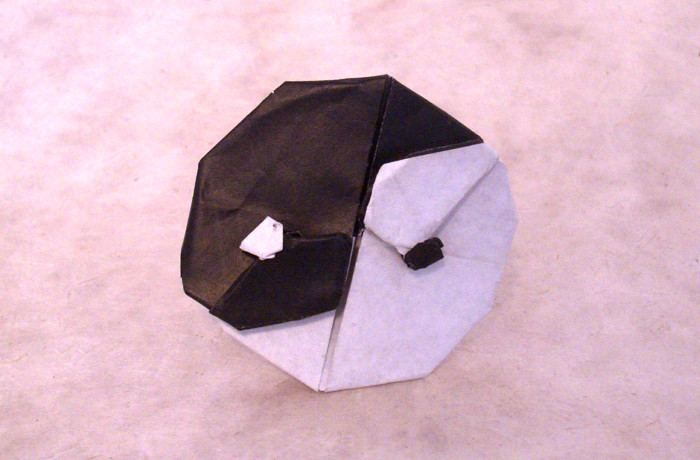 Origami Yin Yang by Tony O'Hare folded by Gilad Aharoni on giladorigami.com