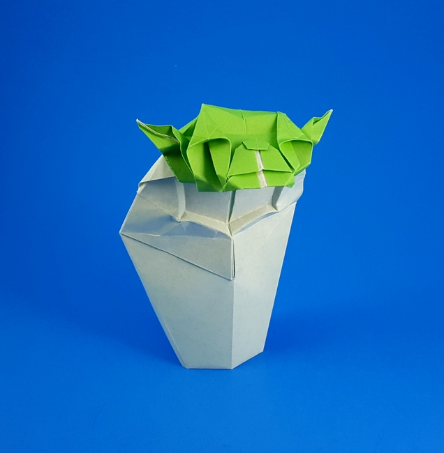 Art2-D2's Guide to Folding and Doodling an Origami Yoda Activity ... | 650x636