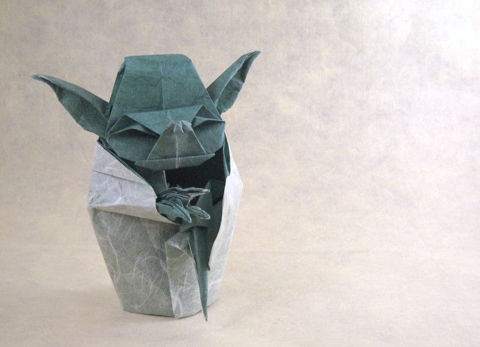 Origami Stormtrooper Helmet Instructions from SuperFolder BenF ... | 506x700
