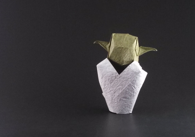 Origami Yoda by Tong Liu (G.T. Liu) folded by Gilad Aharoni on giladorigami.com