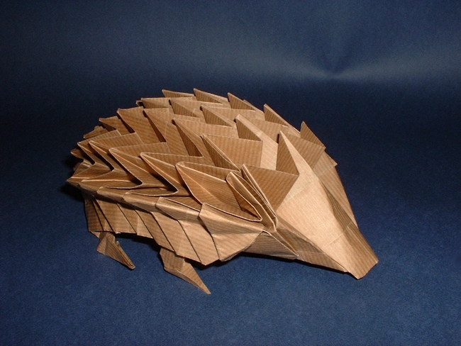 Origami Hedgehog by John Richardson folded by Gilad Aharoni on giladorigami.com