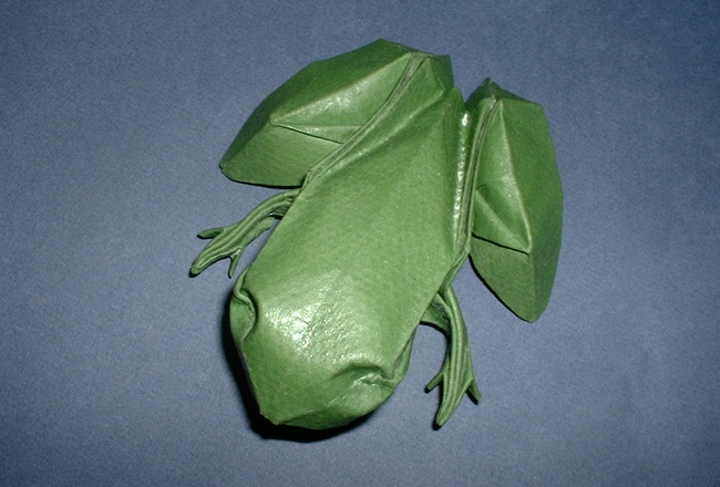 Origami diagram of the Frog on Lily Pad | Origami diagrams, Lily ... | 440x650
