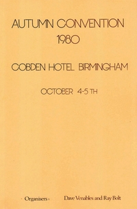 Cover of BOS Convention 1980 Autumn