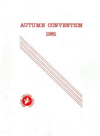 Cover of BOS Convention 1981 Autumn