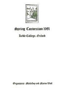 Cover of BOS Convention 1981 Spring