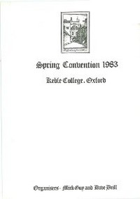 Cover of BOS Convention 1983 Spring