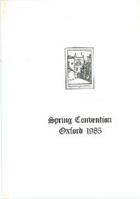 Cover of BOS Convention 1985 Spring