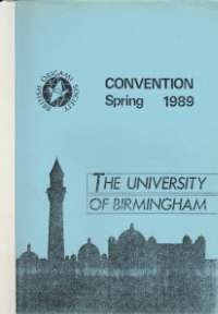 Cover of BOS Convention 1989 Spring