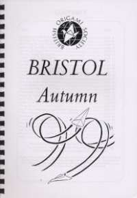 Cover of BOS Convention 1999 Autumn