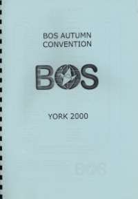 Cover of BOS Convention 2000 Autumn