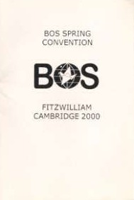 Cover of BOS Convention 2000 Spring