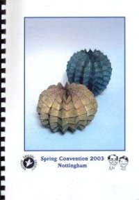 Cover of BOS Convention 2003 Spring