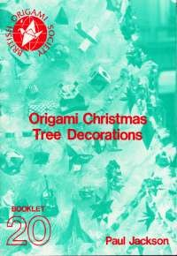 Cover of Origami Christmas Tree Decorations by Paul Jackson