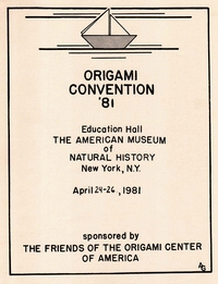 Cover of Origami USA Convention 1981