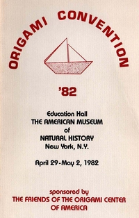 Cover of Origami USA Convention 1982