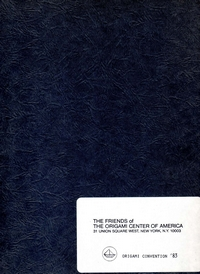 Cover of Origami USA Convention 1983