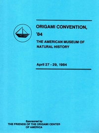 Cover of Origami USA Convention 1984