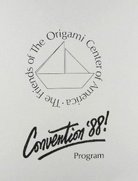 Cover of Origami USA Convention 1988