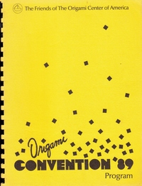 Cover of Origami USA Convention 1989