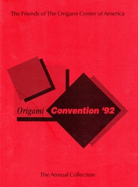 Cover of Origami USA Convention 1992
