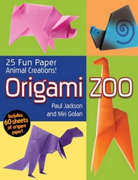 Cover of Origami Zoo by Paul Jackson and Miri Golan