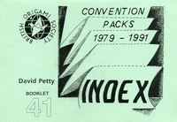 Cover of Convention Packs 1979-1991 Index by David Petty