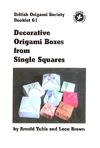 Decorative Origami Boxes from Single Squares book cover