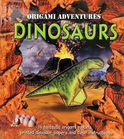Cover of Origami Adventures: Dinosaurs by Nick Robinson