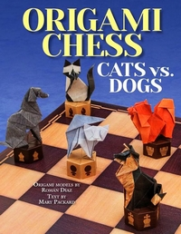 Cover of Origami Chess: Cats vs. Dogs by Roman Diaz