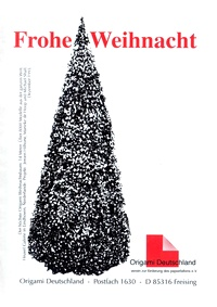 Cover of Origami Deutschland - Merry Christmas 1997