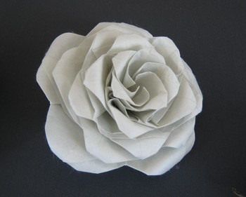 Origami Rose - Miura-ken Beauty by Robert J. Lang database image from www.giladorigami.com