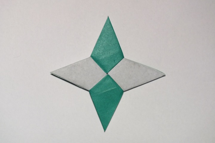 Fold, Origami Four-Pointed Star Tutorial (Traditional), Origami ... | 480x720