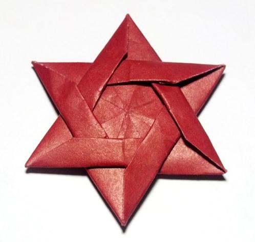 Origami Star of David. Happy Hanukkah. Shining papercraft stars ... | 472x498