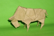 Origami Bison by Madiyar Amerkeshev on giladorigami.com