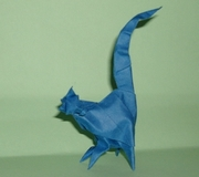 Origami Cat by Madiyar Amerkeshev on giladorigami.com
