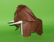 Origami Mammoth baby by Madiyar Amerkeshev on giladorigami.com
