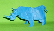 Origami Rhinoceros by Madiyar Amerkeshev on giladorigami.com