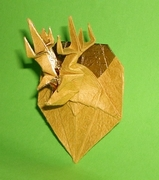 Origami Deer trophy by Madiyar Amerkeshev on giladorigami.com