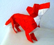 Origami Fox by Max Hulme on giladorigami.com