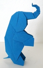 Origami Elephant by Fred Rohm on giladorigami.com