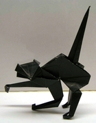 Origami Halloween cat by Fred Rohm on giladorigami.com