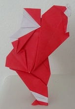 Origami Santa by Fred Rohm on giladorigami.com