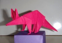 Origami Aardvark by John Montroll on giladorigami.com