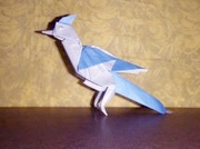 Origami Blue jay by John Montroll on giladorigami.com